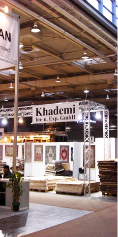 Photography of Khademi's booth at trade fair DOMOTEX Hannover